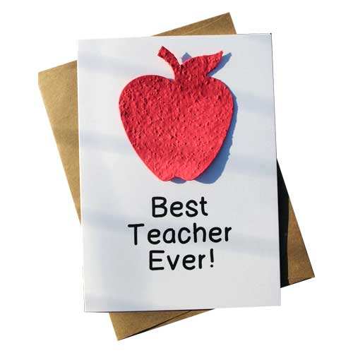 Card reads: Best Teacher Ever!